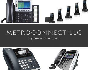 Selection of phones provided by MetroConnect Business Phone Systems.